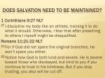 does salvation need to be maintained