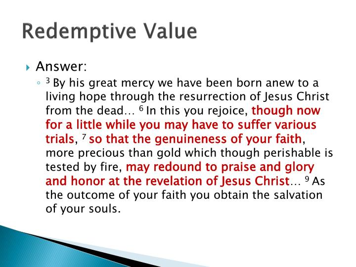 Redemptive Value