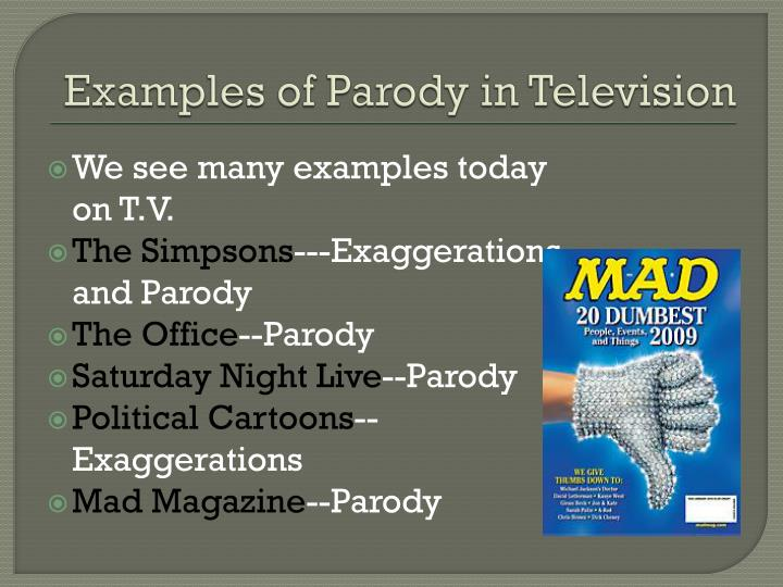 Examples of Parody in Television