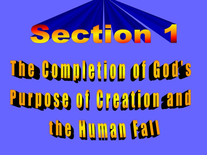 The Completion of God's
