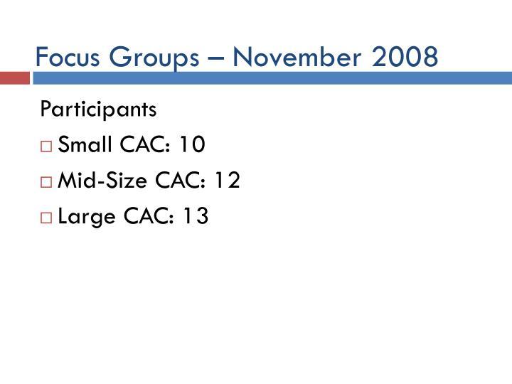Focus Groups –