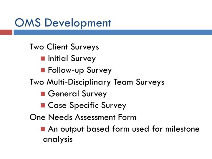 OMS Development