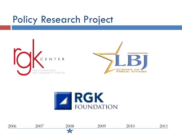 Policy Research Project