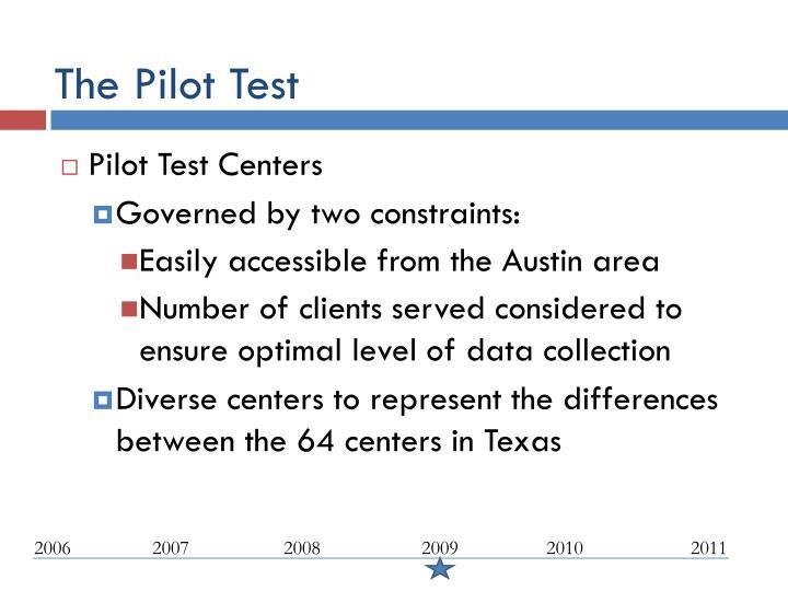 The Pilot Test