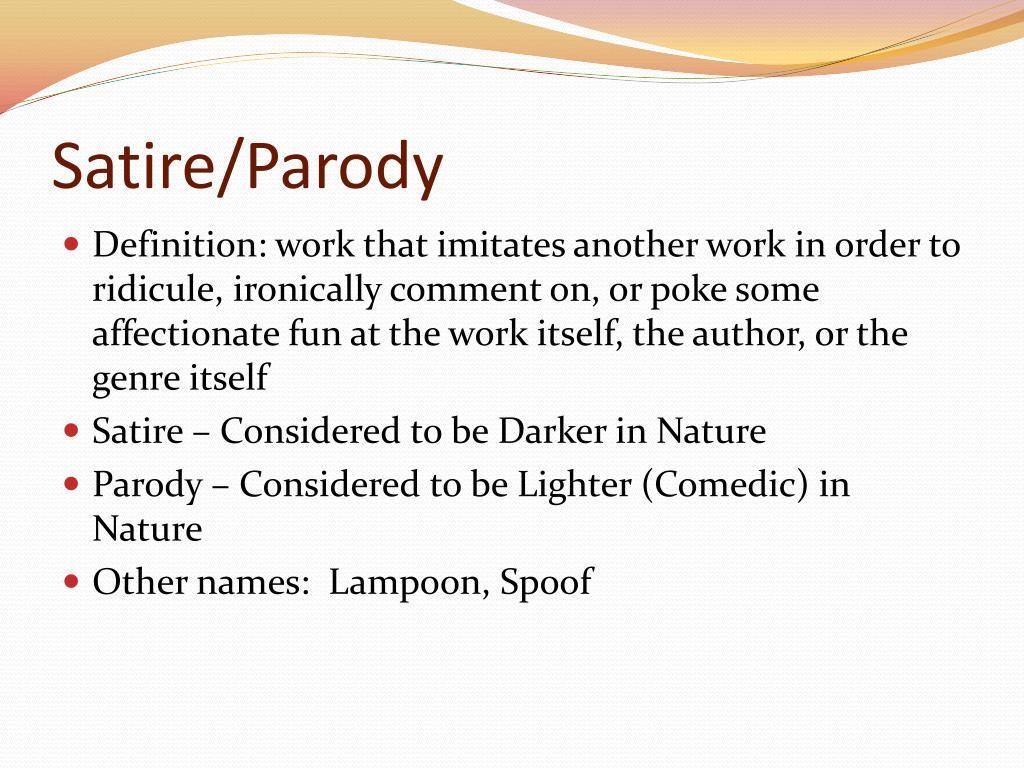 Ppt Satire Parody Powerpoint Presentation Free Download Id