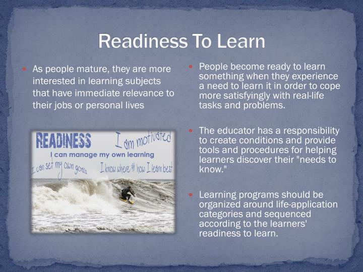 Readiness To Learn