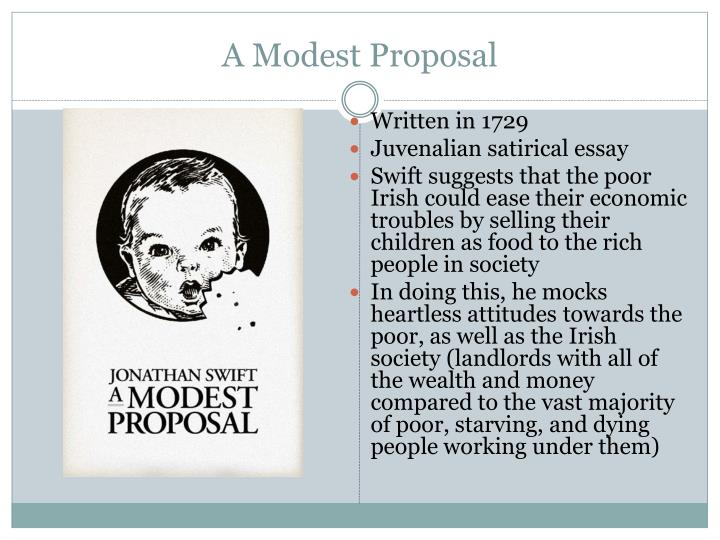 a modest proposal for the homeless people essay A modest proposal for maximizing the usefulness of the poor children of ireland and for providing a means to regulate the economy b a modest proposal for feeding the hungry, clothing the needy, sheltering the homeless, and enriching the poor people of ireland.