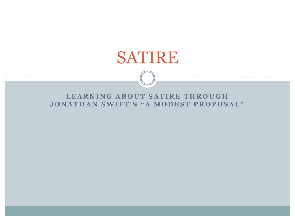 Ppt Satire Powerpoint Presentation Free Download Id 2637459