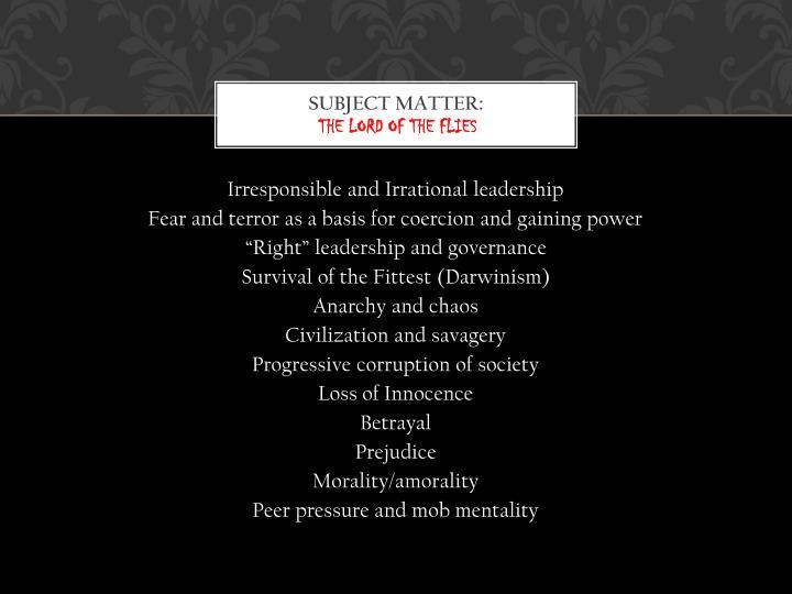 Subject Matter: