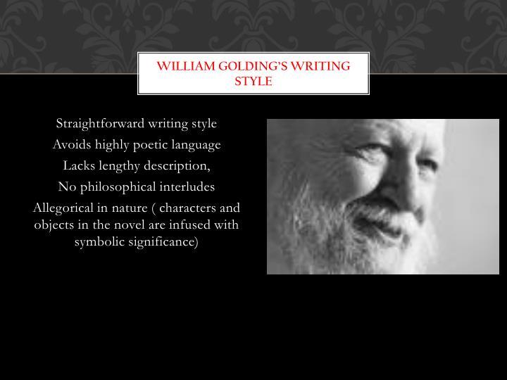 William Golding's writing style