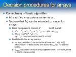 decision procedures for arrays1