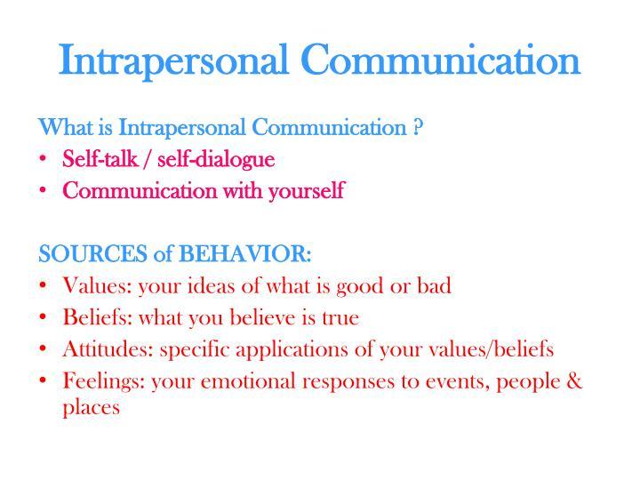 intrapersonal speech