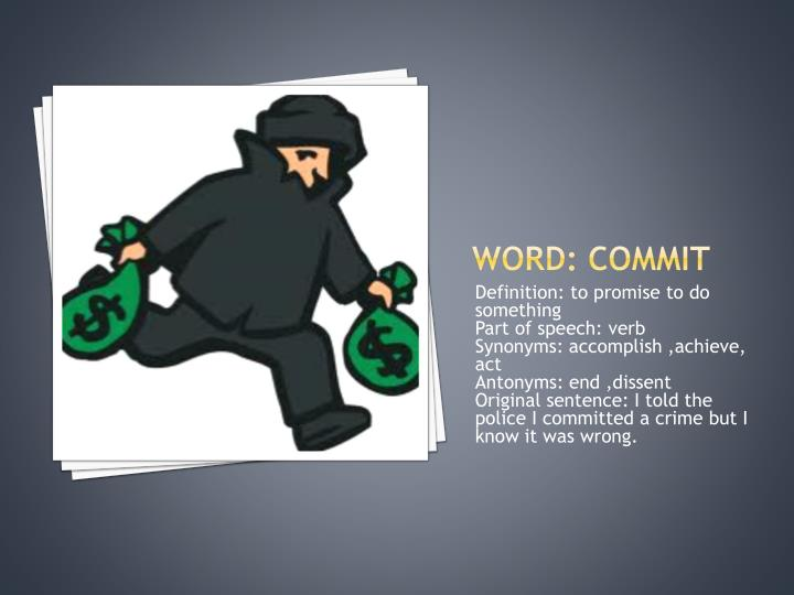 Word commit