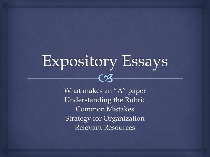 types of expository writing ppt