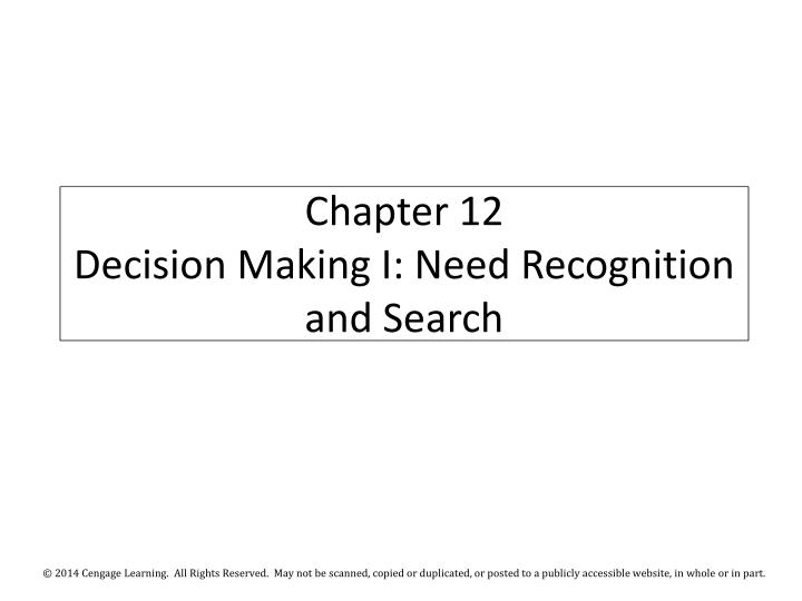 chapter 12 decision making i need recognition and search n.