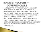 trade structure covered calls