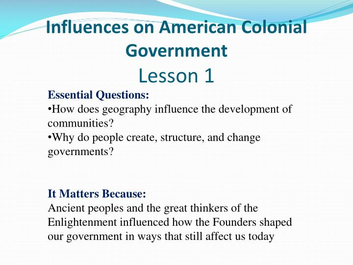the influence of economy on american colonial development history essay Colonial rule for the subsequent economic development of colonies within the americas acemoglu et al (2001, 2002) developed a research agenda that sought to better under- stand the historical origins of current institutions and their importance for long-term.