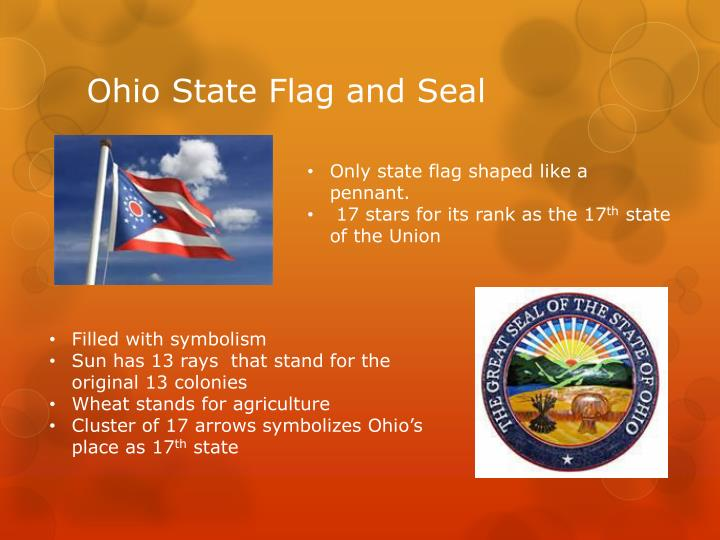 Ohio State Flag and Seal