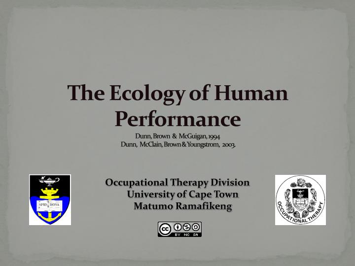 the ecology of human performance dunn brown mcguigan 1994 dunn mcclain brown youngstrom 2003 n.