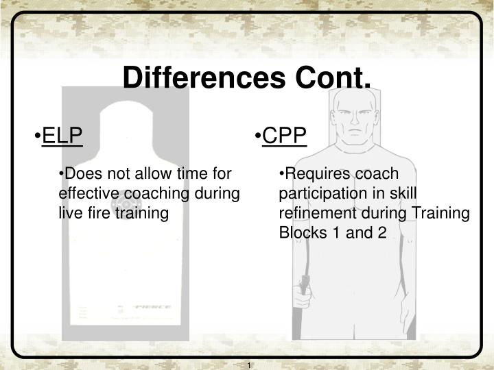 Differences Cont.