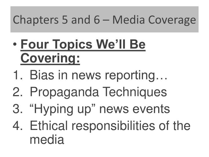 chapters 5 and 6 media coverage n.