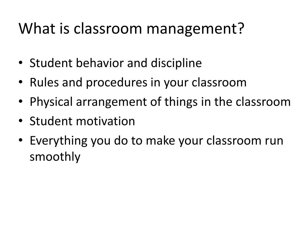 PPT - Classroom Management for English Teachers Marla