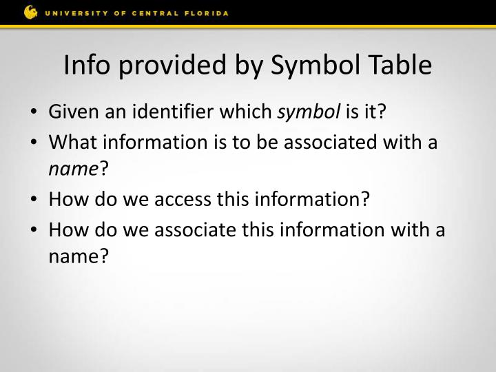 Info provided by Symbol