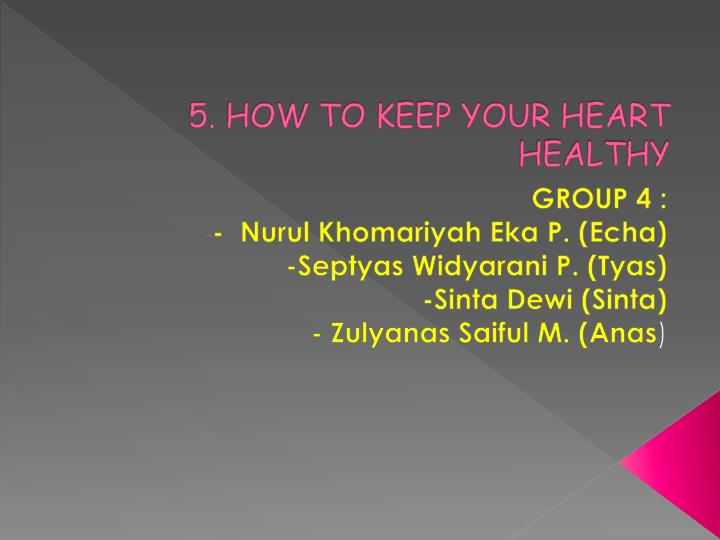 5 how to keep your heart healthy n.