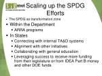 scaling up the spdg efforts