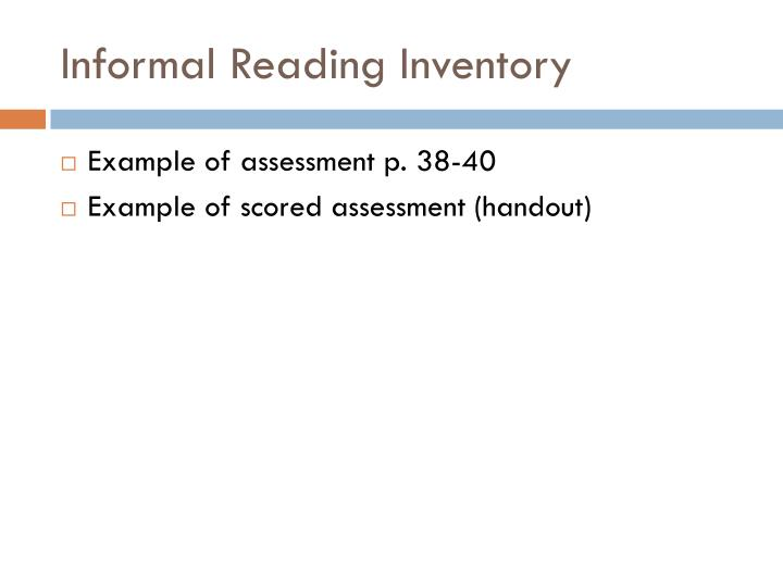 Ppt  Assessment Identifying Levels Administering And Scoring An