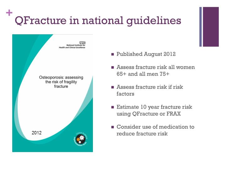 QFracture in national guidelines