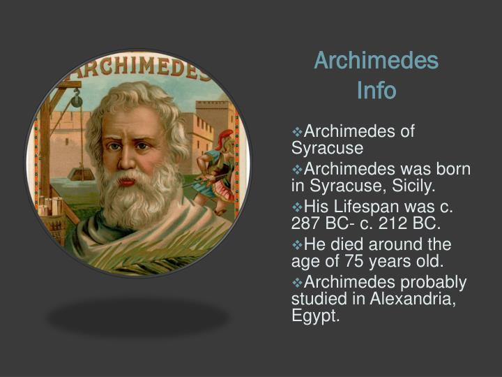 archimedes life span