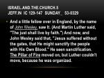 israel and the church 5 jeff in ic 129 147 sunday 53 03294