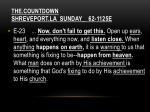the countdown shreveport la sunday 62 1125e2