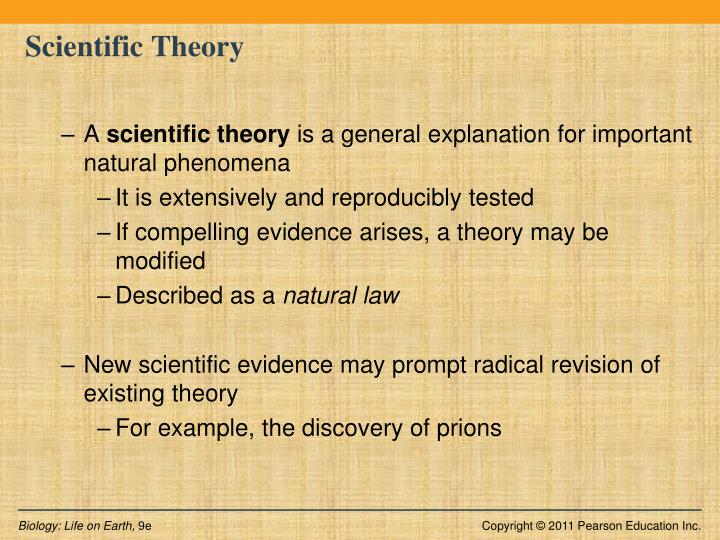 Scientific Definition Differs From Natural Use Of The Word