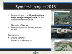 synthesis project 2013
