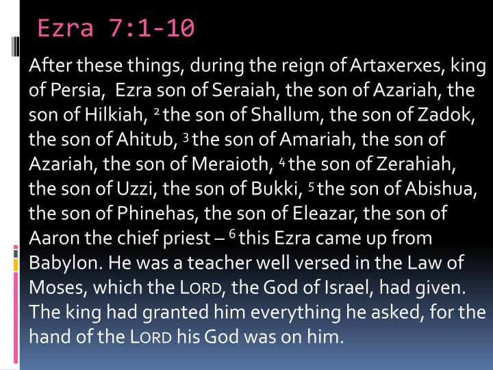 Ezra 7 1 10