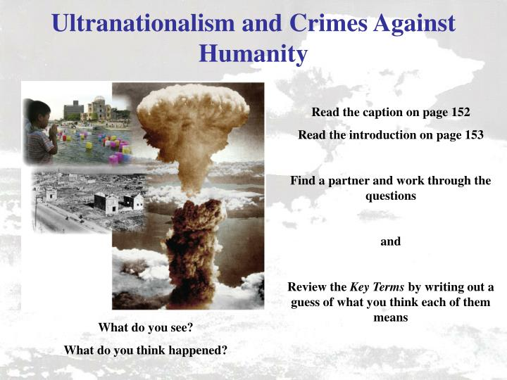 Ultranationalism and Crimes Against Humanity