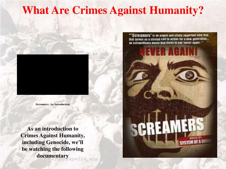 What Are Crimes Against Humanity?