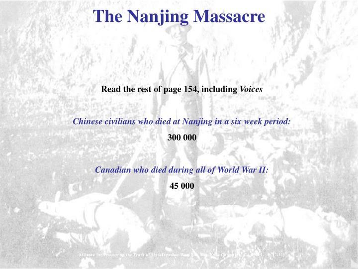 The Nanjing Massacre