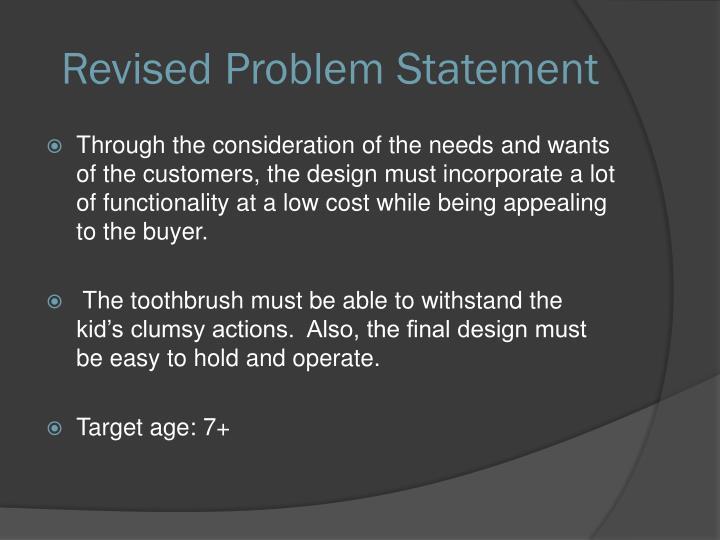 Revised Problem Statement