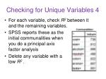 checking for unique variables 4