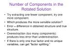 number of components in the rotated solution