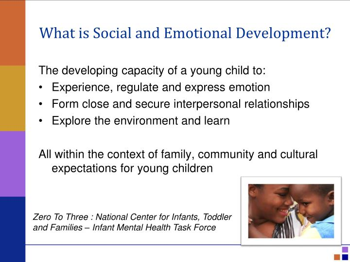 children's socio emotional development promoting school readiness Montessori public school pre-k programs and the school readiness of low-income black and latino children arya ansari  reported on children's socio-emotional and behavioral skills with the devereux early childhood  schools with regard to promoting school-age children's long-term.