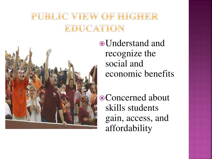 Public View of Higher Education