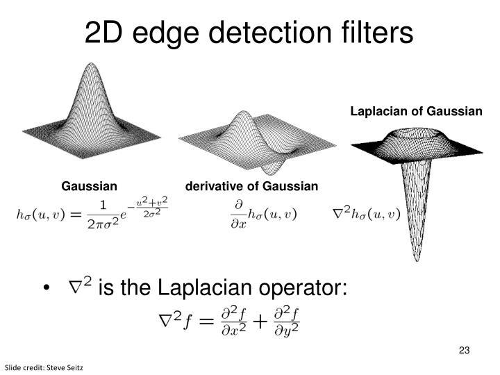 2D edge detection filters
