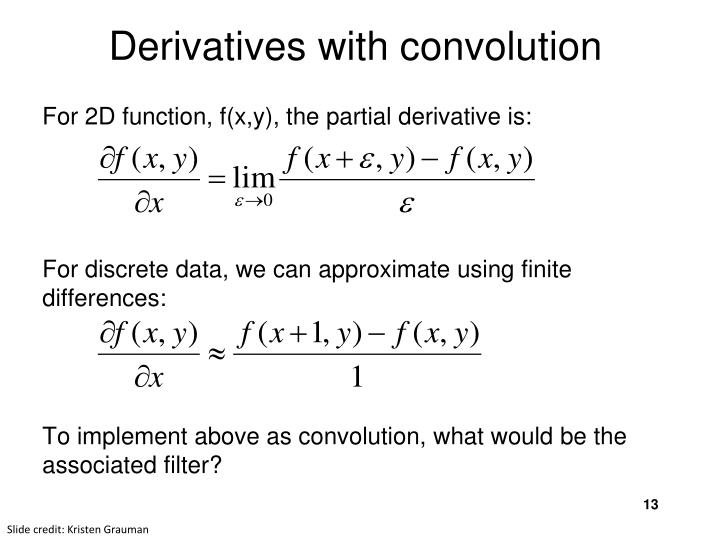 Derivatives with convolution