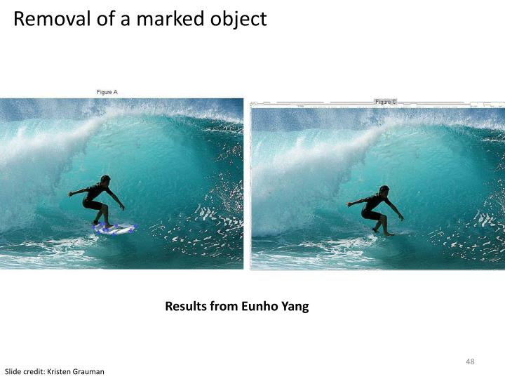 Removal of a marked object