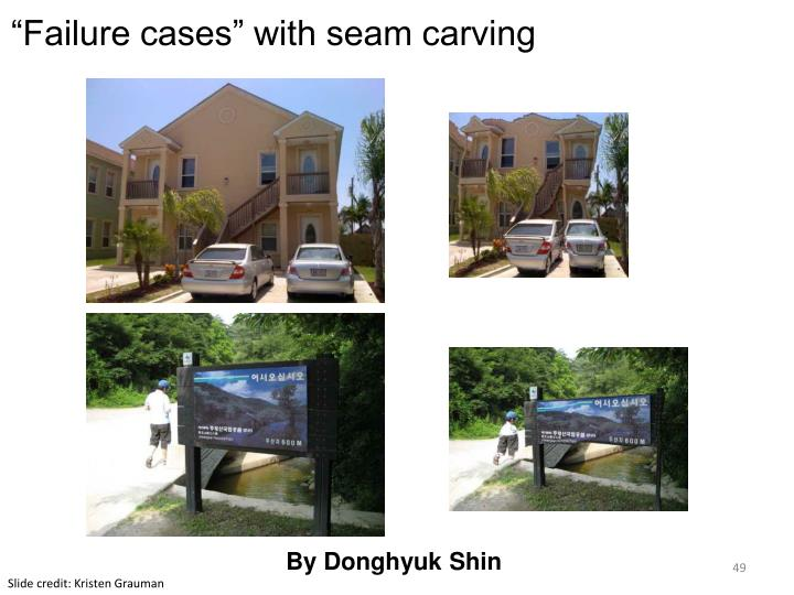 """""""Failure cases"""" with seam carving"""