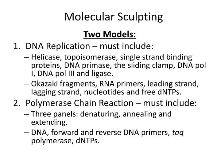 Molecular Sculpting